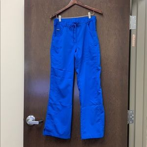 Royal blue Sanibel brand scrub pants size small